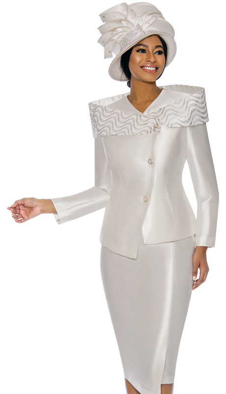 Terramina 7745-PE ( pc Silk Look Ladies Church Suit )