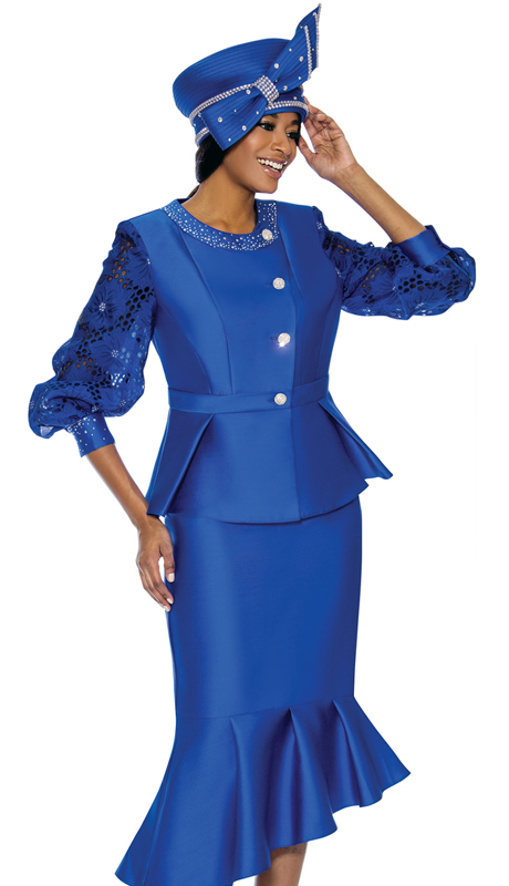 Terramina 7744-RO-CO ( 2pc Silk Look Ladies Church Suit )