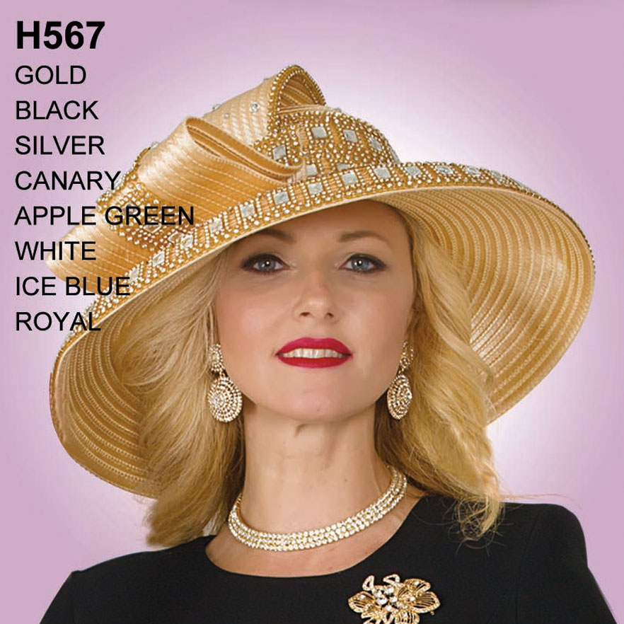 Lily And Taylor Hat H567-GO