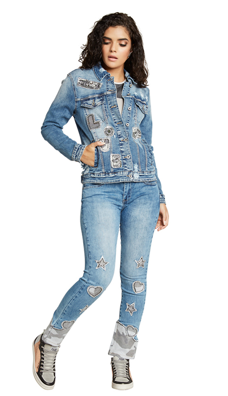 Tesoro Moda 20009-S ( 2pc Premium Denim Set With Spandex )