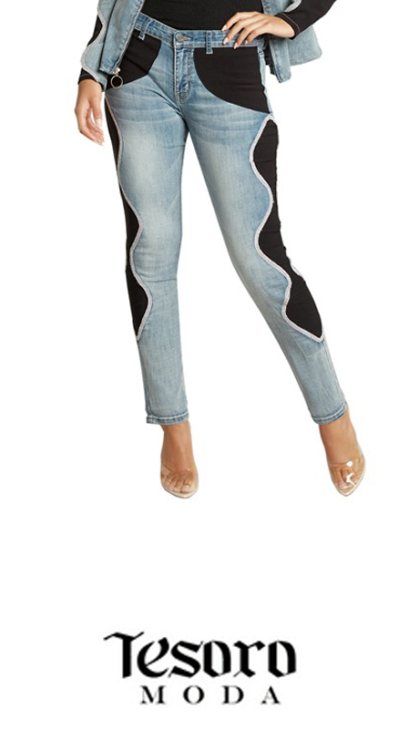 Tesoro Moda 20016-P ( 1pc Premium Denim Pant With Spandex )
