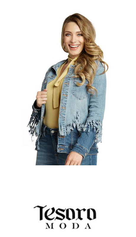 Tesoro Moda 20018-J ( 1pc Premium Denim Jacket With Spandex )