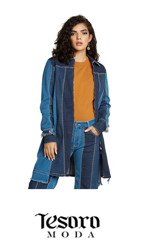 Tesoro Moda 20023-J ( 1pc Premium Denim Jacket With Spandex )