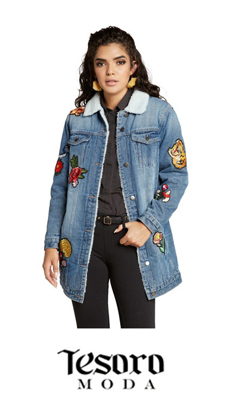 Tesoro Moda 20003-J ( 1pc Premium Denim Jacket )