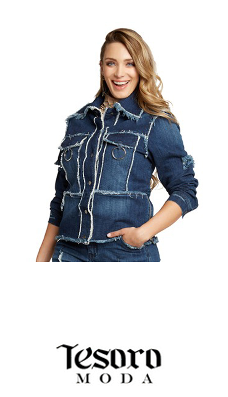 Tesoro Moda 20024-J ( 1pc Premium Denim Jacket With Spandex )