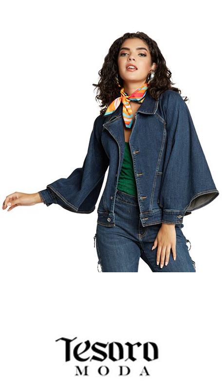Tesoro Moda 20025-J ( 1pc Premium Denim Jacket With Spandex )