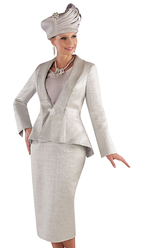 Tally Taylor 4709-SI ( 3pc Metallic Novelty First Lady Suit With Peplum Jacket)