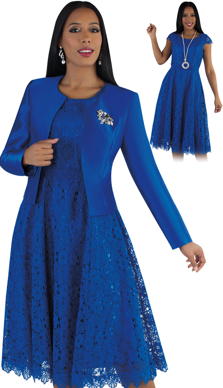 Tally Taylor 4529-RO ( 2pc Silk Womens Sunday Dress With Detachable Rhinestone Brooch Graceful Pleated Lace And Silk Jacket )