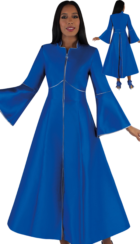Tally Taylor 4731-RG ( 1pc Silk Zipper Front Church Robe With Back Pleat )