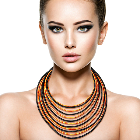 Upscale Jewelry SRN0005BAMT ( Layered Wrapped Necklace And Earring Set )