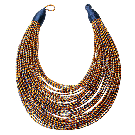 Upscale Jewelry SRN0018BLUMT ( Tribal Layered Wrapped Necklace )