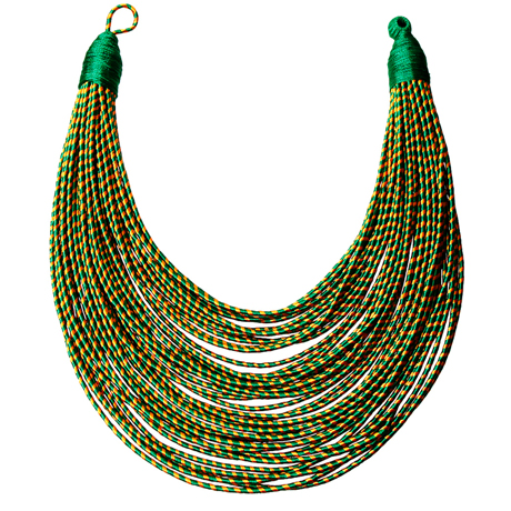Upscale Jewelry SRN0018GREMT ( Tribal Layered Wrapped Necklace )