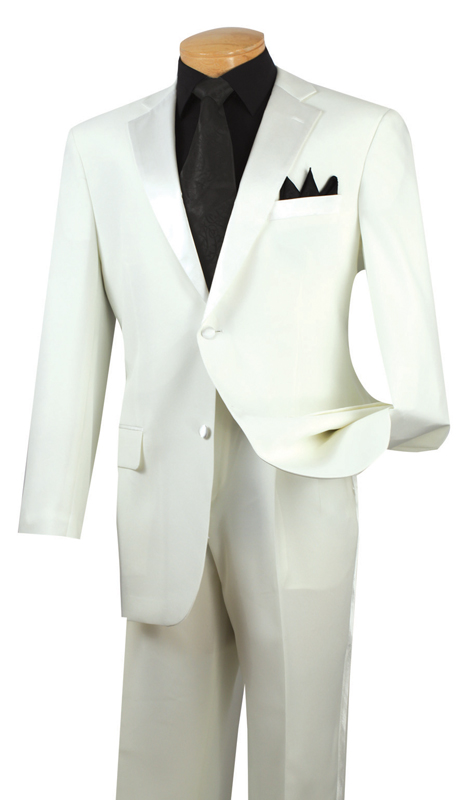 Vinci Mens Tuxedo T-2PP-IV  ( 2pc Single Breasted, Two Buttons, Pleated Pants )