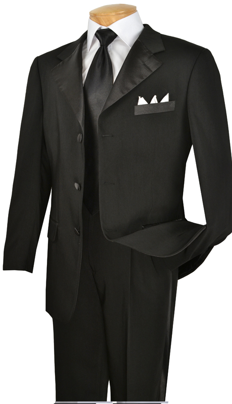 Vinci Mens Suit T-3HT ( 2pc Executive Suit, Single Breasted, Two Buttons, Side vents, Flat Front Pants )