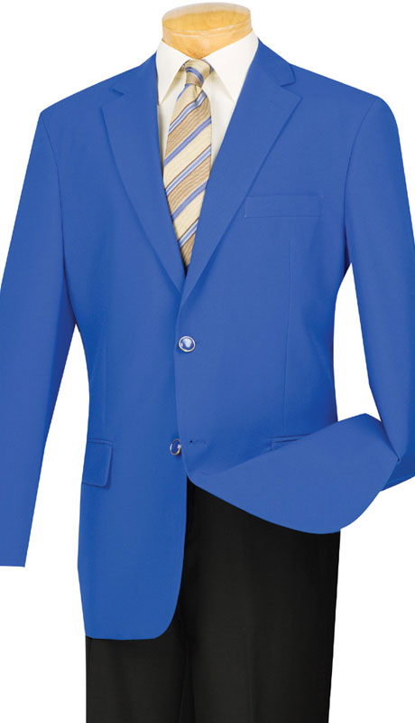 Vinci Mens Sports Coat Z-2PP-RO ( 1pc Single Breasted, Two Buttons, Side Vents )