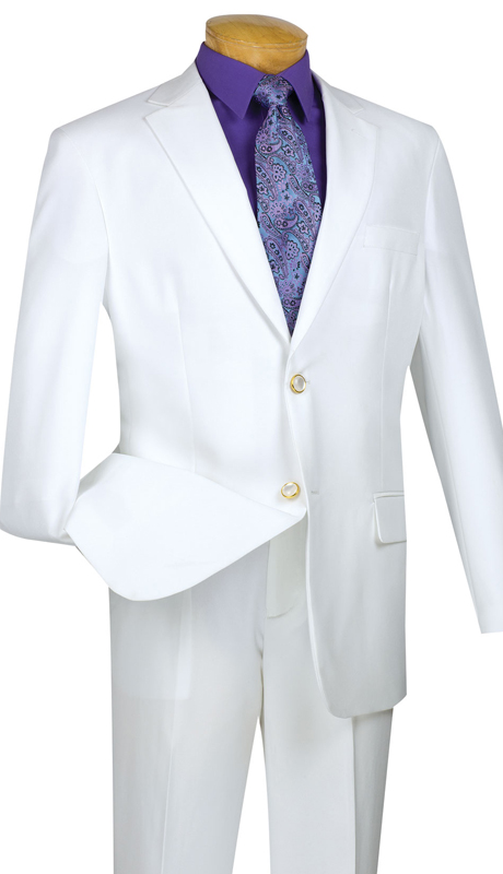 Vinci Mens Sports Coat Z-2PP-WH ( 1pc Single Breasted, Two Buttons, Side Vents )