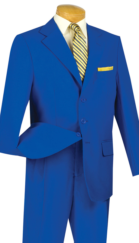 Vinci Mens Suit 3PP-RO  ( 2pc Collection, 100% Poplin Dacron, Single Breasted Three Buttons, Solid Color )