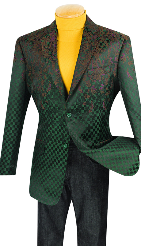 Vinci Mens Sport Coat BFL-2-OL ( 1pc Single Breasted, Two Buttons, With Side Vents )