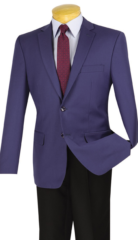 Vinci Mens BS-10-IN ( 1pc Single Breasted, Two Buttons, Side Vents, Sport Coat )