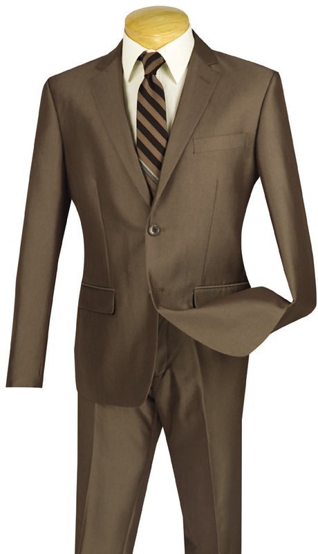 Vinci Mens Suit US2D-7-MO ( 2pc Single Breasted, Two Buttons, Flat Front Pants )