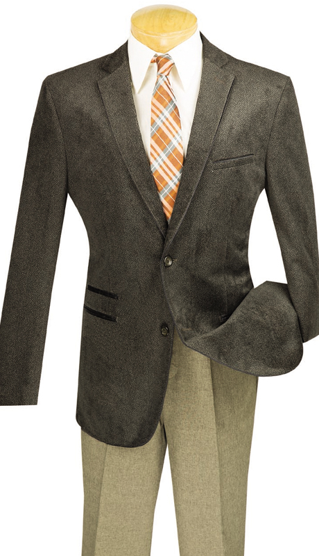 Vinci Mens Sports Coat BS-05-COF ( 1pc Single Breasted, Two Buttons, Side Vents )