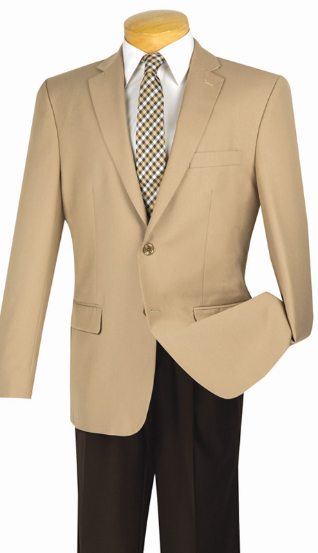 Vinci Mens BS-10-BE ( 1pc Single Breasted, Two Buttons, Side Vents, Sport Coat )