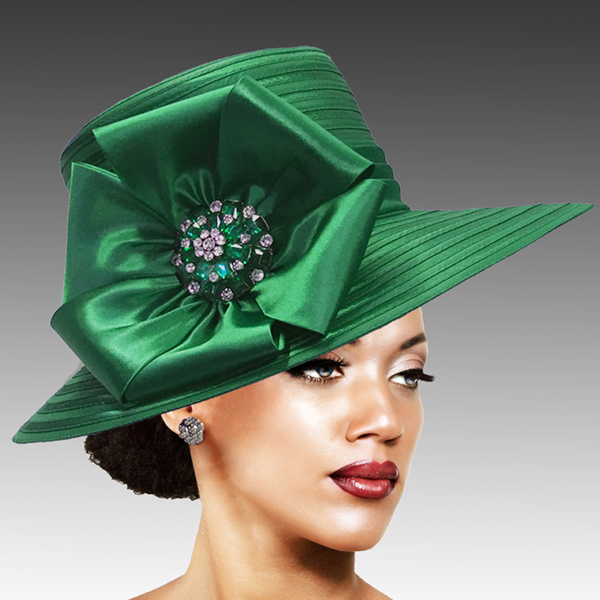 2309 Taylor-EM ( Brim Derby Hat with a Luxurious Bouquet of Flowers and Ostrich Plumes )