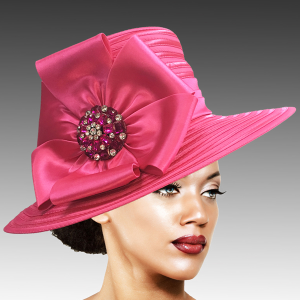 2309 Taylor-FU ( Brim Derby Hat with a Luxurious Bouquet of Flowers and Ostrich Plumes )