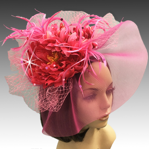 2311 Georgina-FU ( Headband Fascinator With Delicate Fall Flora And Feathers )