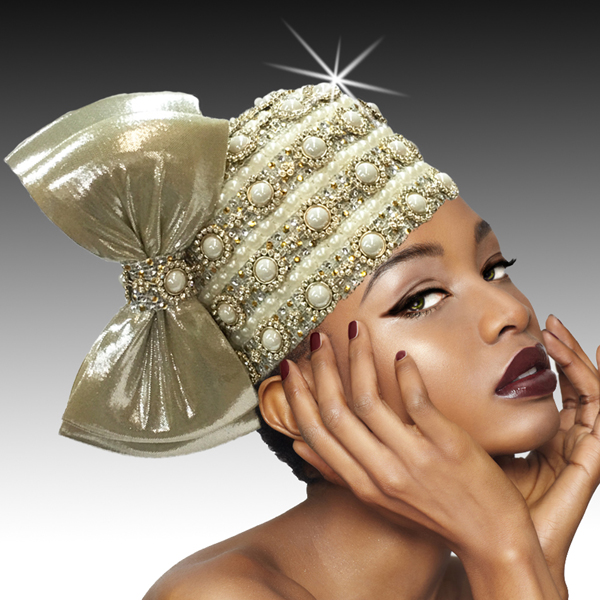 2406 Nefertiti-GO ( Jewel Embellished Bubble With Coquettish Profile Bow )