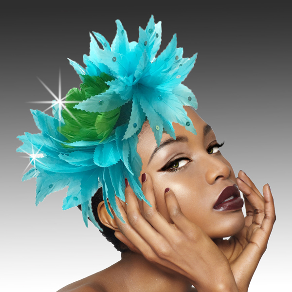 2420 Phoenix-TU ( Feather Headband Fascinator Styled In The Elegant Way Of The Phoenix )
