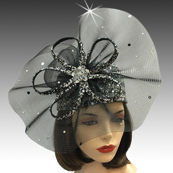 2425 Diamond Dust-BL ( Diamond Dust Bubble Hat With Pinwheel And Diamond Dust Loops )