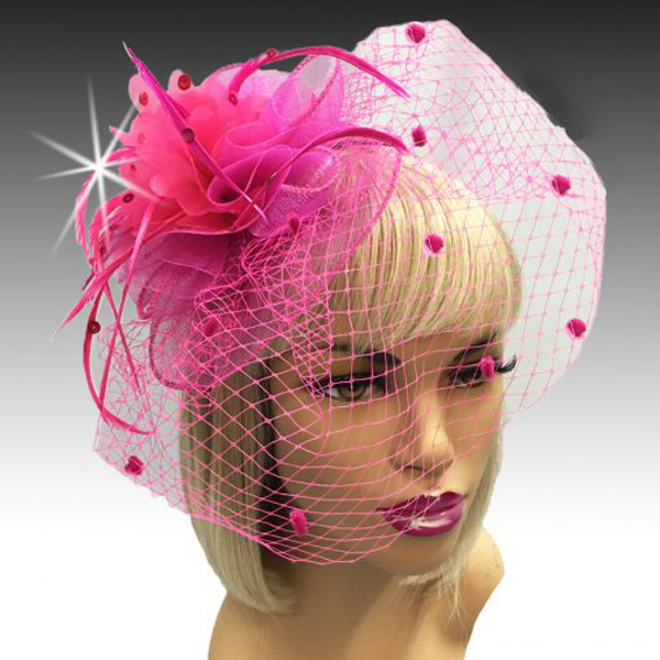 1228 Portia-FU ( Wonderfully Chic Fascinator On A Headband With Spirals Of Sequin Feathers )