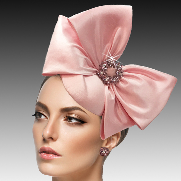 2417 Harry-PI ( Mini Nehru Pillbox Fascinator With A Crystal Wreath Bow )