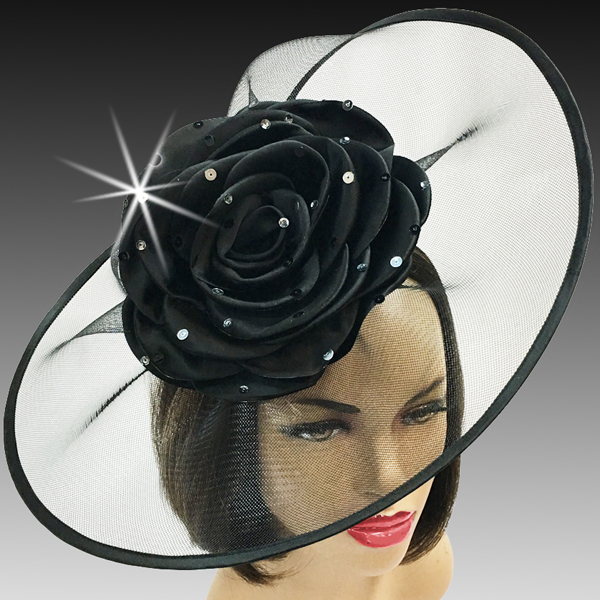 2001 Trevi-BL ( Fascinator Inspired By A Fanciful Cascade of Water With Dew Spinkled Rose )