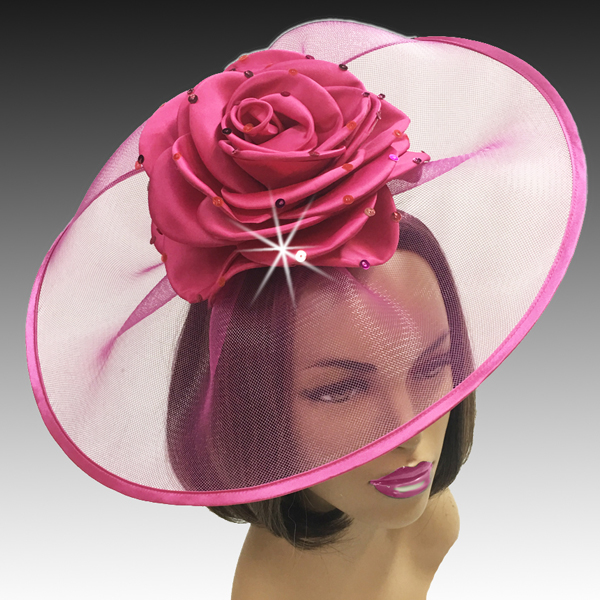 2001 Trevi-FU ( Fascinator Inspired By A Fanciful Cascade of Water With Dew Spinkled Rose )