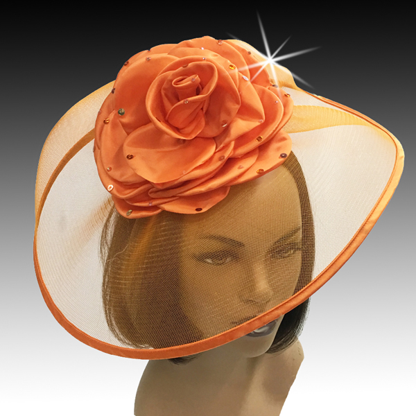 2001 Trevi-OR ( Fascinator Inspired By A Fanciful Cascade of Water With Dew Spinkled Rose )