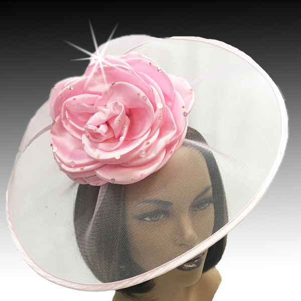 2001 Trevi-PI ( Fascinator Inspired By A Fanciful Cascade of Water With Dew Spinkled Rose )