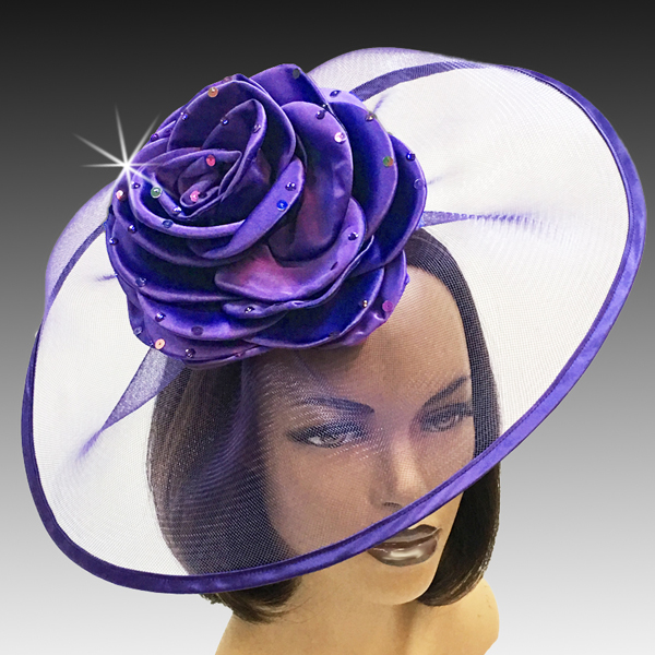 2001 Trevi-PU ( Fascinator Inspired By A Fanciful Cascade of Water With Dew Spinkled Rose )