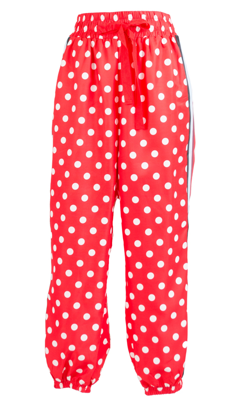 Why Collection P180187-RE ( 1pc Polka Dot Track Pant )