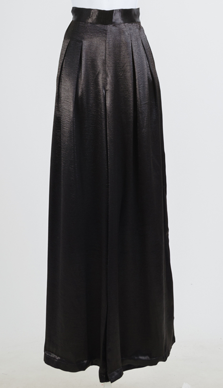 Why Collection P170139-BK ( 1pc Satin Palazzo Pant )