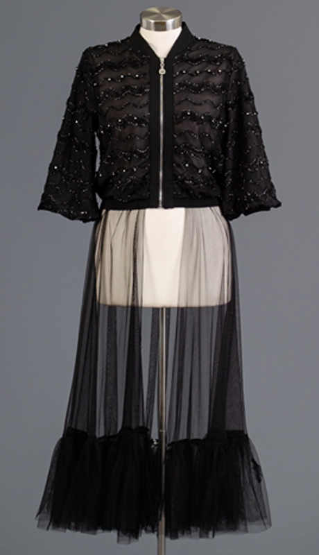 Why Collection J181111-BK ( 1pc Short Sleeve Sheer Tulle Duster Jacket )