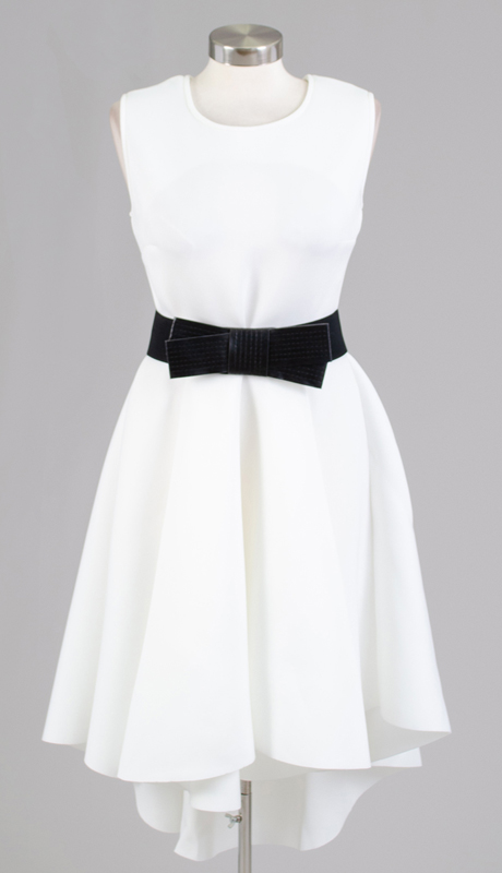 Why Collection D170041-IB ( 1pc Sleeveless High Low Bow Belt Dress )