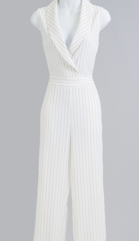 Why Collection B170461-IN ( 1pc Pinstripe Jumpsuit )