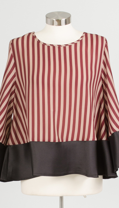 Why Collection T170457-NB ( 1pc Stripe Top )