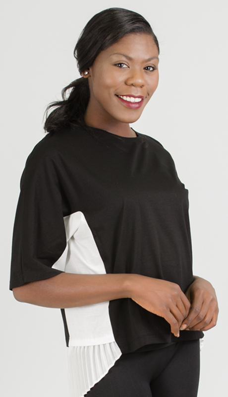 Why Collection T0178-BW ( 1pc Pleated Top )