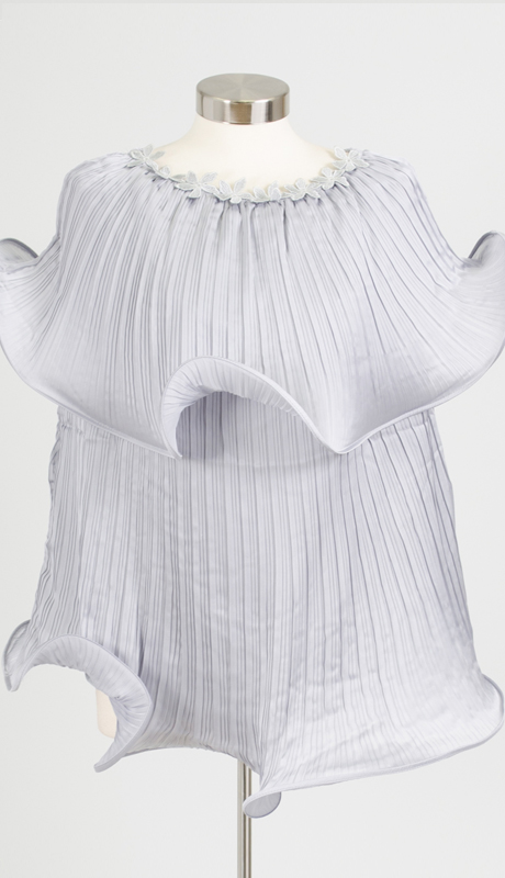 Why Collection T0171-SI ( 1pc Pleated Ruffle Top )