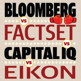 Bloomberg vs Capital IQ vs Factset vs Thomson Reuters Eikon - Wall