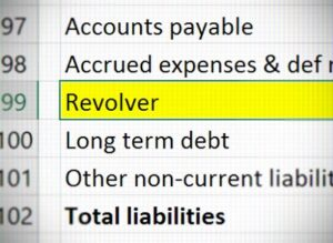 The Revolving Credit Line Revolver Acts As A Plug To Ensure That Debt Automatically Gets Drawn Handle Projected Losses Cash Does Same Thing