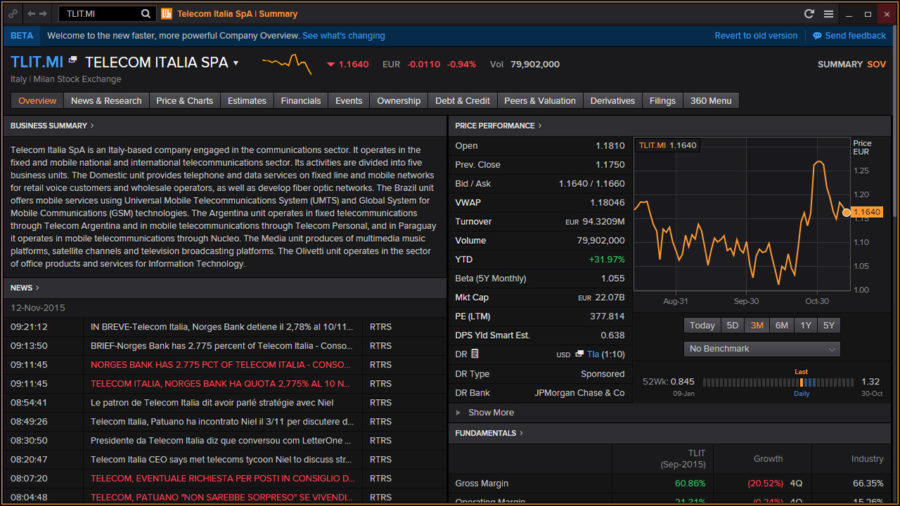 Bloomberg vs Capital IQ vs Factset vs Thomson Reuters Eikon